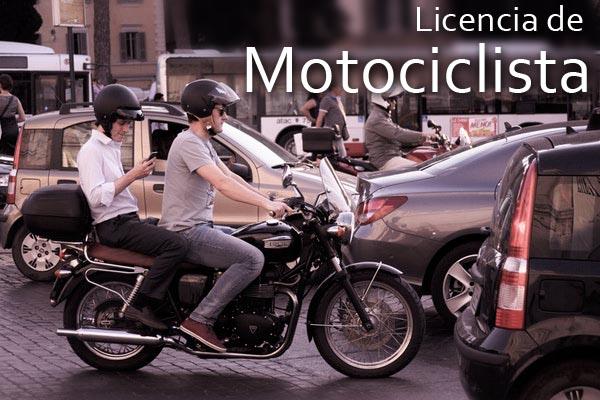 licencia de motociclista