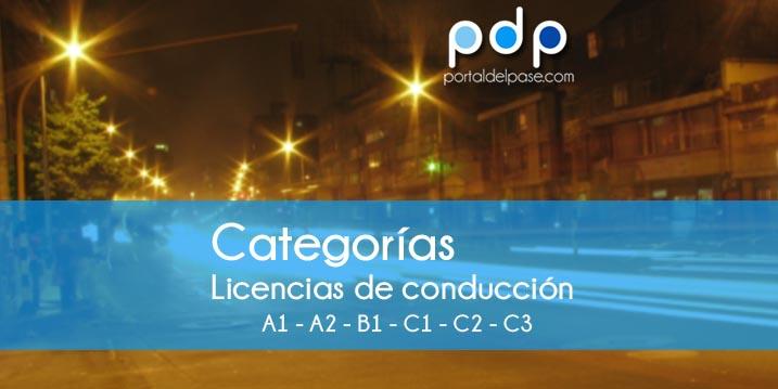 Categorías de licencias de conducción