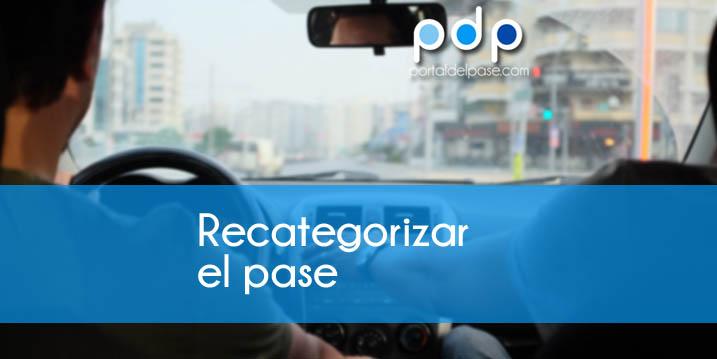 Recategorizar licencia de conducción
