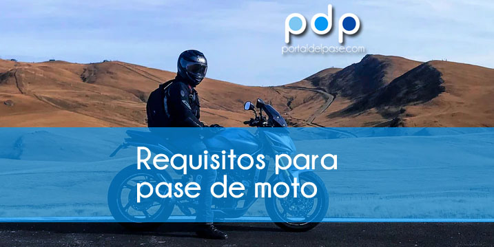 Requisitos para sacar el pase de moto